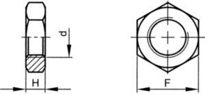 Contra-piuliță hexagonală filet UNC ASME B18.2.2 Oțel ASTM A563 Zincat Gr.A 1.1/4-7