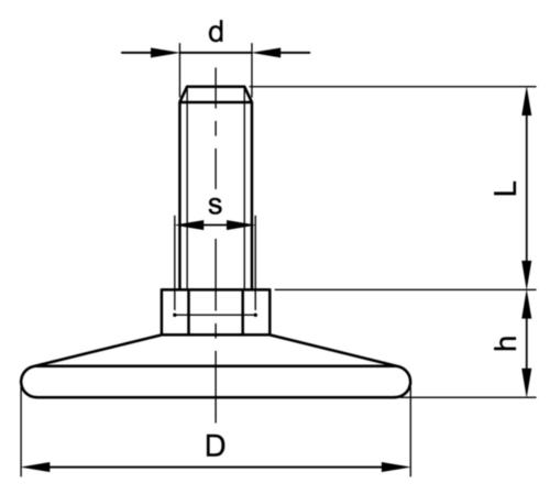 Csúsztató szög Műanyag M8X15X38