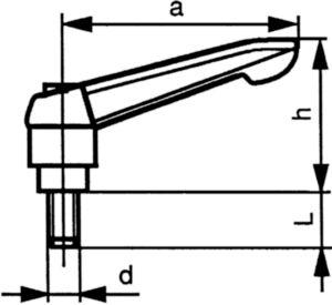 Gépkar, acél Esztergált acél M8X40