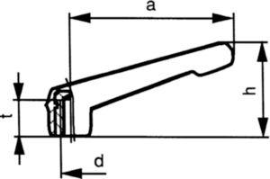 Gépkar, teherbíró, magas Műanyag Poliamid (nejlon) 6.6 M16X24
