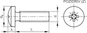 Tornillo cabeza cilíndrica Pozidriv DIN ≈7985-Z Aluminio Anodizado P65 M4X30