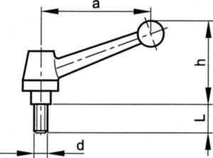 Gépkar, emelhető, acél Kovácsolt acél C35 M10X30