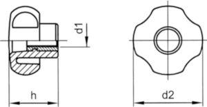 Üvegszál-erősítésű műanyag nyitott M5