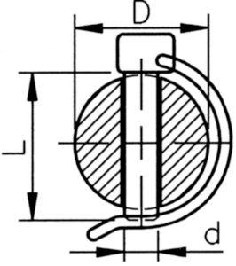 Trubkový kolík Pružinová ocel Pozinkované žlutě pasivované 6X45MM