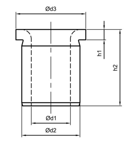Fabory Vŕtacie púzdro s nákružkom Short DIN 172 A 11,1 MM