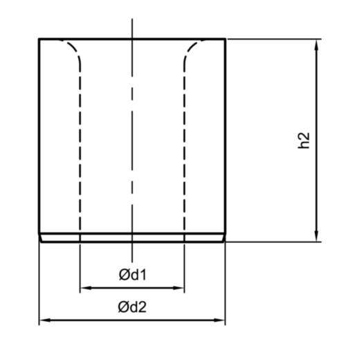 Fabory Canon de perçage Court DIN 179 A 12,6 MM