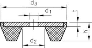 Trillingdemper type SE Staal/natuur rubber Elektrolytisch verzinkt 75SE