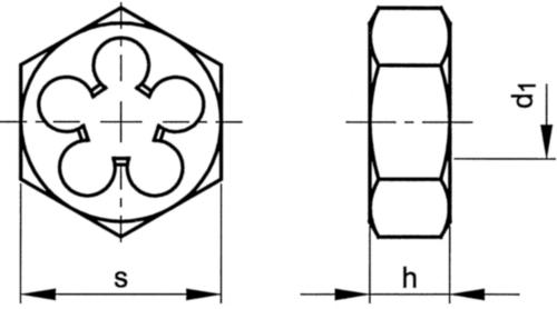 Fabory Filière hexagonale DIN 382 HSS-G M 6
