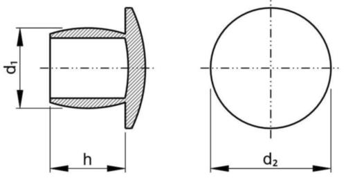 Capac pentru ţevi Plastic Polietilenă 4,4X5,2