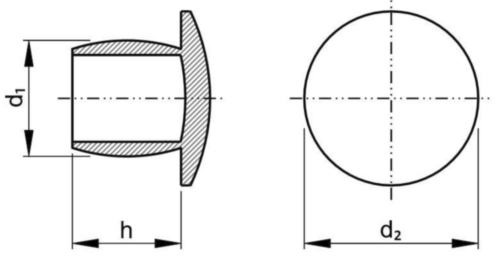 Cover plug Plastic Polyethylene 5,4X7,5