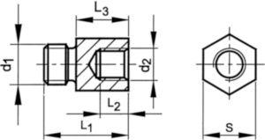 Reduceerstuk Automatenstaal Elektrolytisch verzinkt M16XM10
