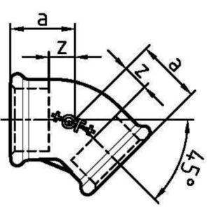 THZ MALL KNEE 45' V/V F120         1.1/2