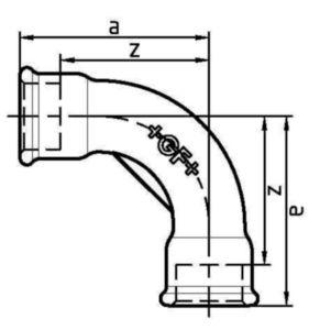 CURVA 90 F/F F2 HDG                  3/4
