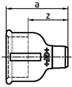 MALL VRLSOKNIP F246          2.IN.X1.1/4