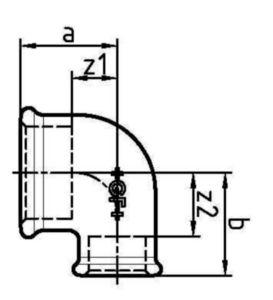 ZQT MALL CARDAN 90' V/V F90    1.IN.X1/2