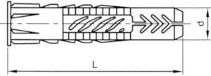 Fischer Hmoždinky univerzálne UX / UX-R Plast UX-R 6 UX-R