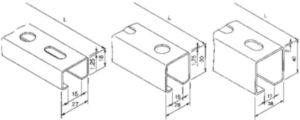 FISCHER Montagerail Staal Elektrolytisch verzinkt 38/40 2000