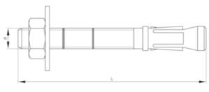 MAXXFAST Anchor bolt ThruFast - ThruMaxx Stainless steel A4 ETA-7 6X60