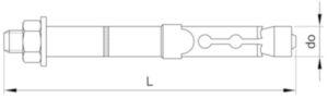 Fischer Nagy teherbírású horgonycsavar, FH-B típus Acél Horganyzott FH II 18/100 B