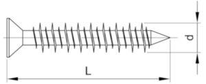 Powers Şurub de ancorare cap înecat tip TAPC Oțel Perma-Seal 4,8X45MM