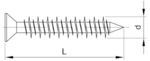 POWERS Anchoring screw countersunk type TAPC Steel Perma-Seal 4,8X82MM
