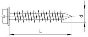 DeWalt Kotwy śrubowe łeb sześciokątny, typu TAPH Stal Perma-Seal 6,3X32MM
