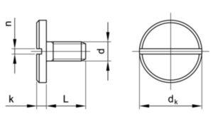 Šroub s velkou válcovou hlavou s drážkou DIN 921 Ocel Pozinkované 5.8 M6X10