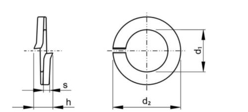 Șaibe elastice DIN127A profil pătrat DIN 127 A Oțel arc Zincat M48