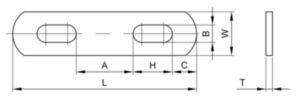 U-csavar alátét Rozsdamentes acél AISI 304 5/16X4.750