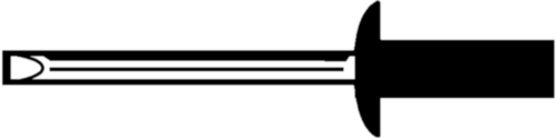 Rivet aveugle à tête plate, étanche Stainless steel A2 / Stainless steel