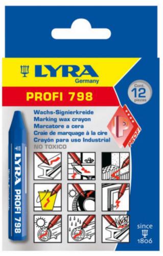 LYRA 12PC KRIJT 95X12 798          BLAUW