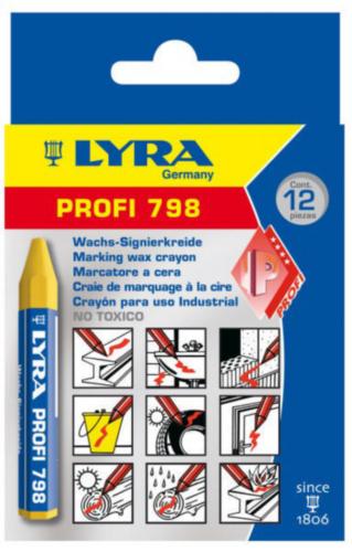 LYRA 12PC KRIJT 95X12 798           GEEL