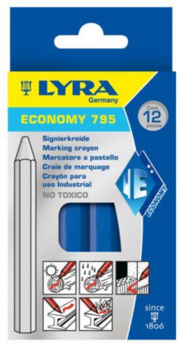 LYRA 12PC MARK CHALK 795            BLUE
