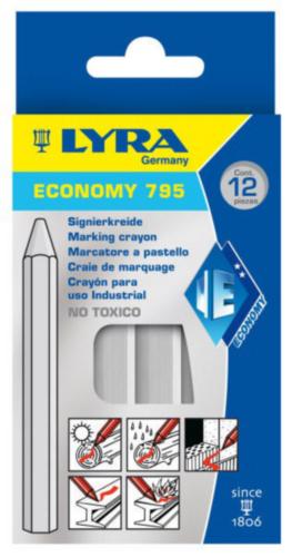 LYRA 12PC MARK CHALK 795           WHITE