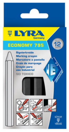 LYRA 12PC MARK CHALK 795           BLACK