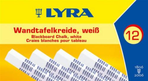 LYRA SCHOOLBORDKRIJT          12PC WHITE