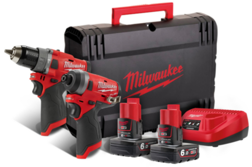 Milwaukee Cordless Combi set M12 FPP2A-602X