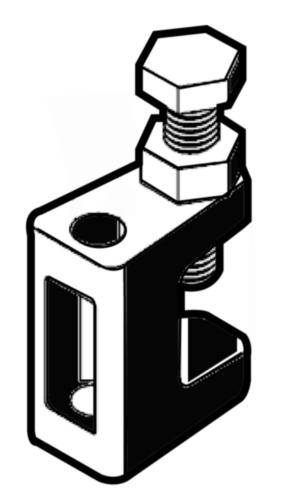 Balkklem Gietijzer Elektrolytisch verzinkt