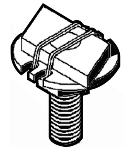 Parafuso cabeça em T clix  Aço  Zincado