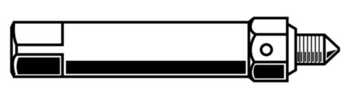 Zelfdraadsnijdend schroefdraadbusapparaat type 610 Staal Blank