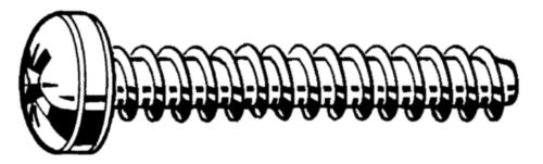 Zelfdraadvormende bolcilinderschroef met kruisgleuf Staal Elektrolytisch verzinkt