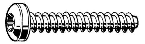 Tornillo para plástico REMFORM® cabeza cilíndrica Torx® Acero Cincado 3X10MM