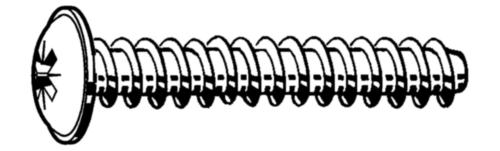 Tornillo para plástico REMFORM® cabeza redondeada Pozidriv Acero Cincado 4X12MM