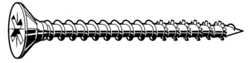 Heco-Unix Plus Šroub se zápustnou hlavou s křížovou drážkou do dřevotřísky Ocel Pozinkované 6X100MM