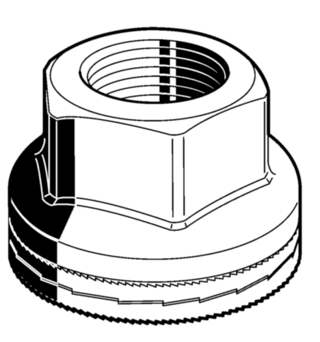 Hexagon wheelnut Nord-Lock Steel Delta Protekt® 10