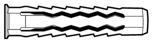MAXXFAST Wall plug 4Fast Plastic Nylon (polyamide) 10MM