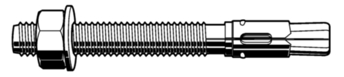 Anchor bolt ThruFast - ThruMaxx  Steel  Zinc plated