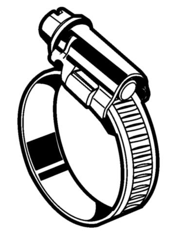 Collier de serrage - bande de 9mm  Acier  Electro zingué