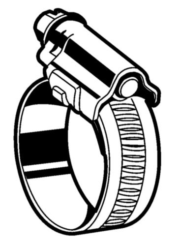 Collier de serrage - bande de 12mm  Acier  Electro zingué