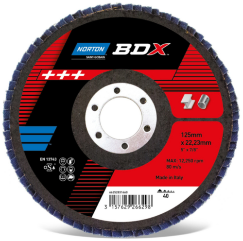 Norton Flap disc Taper BDX R842 125X22 P80
